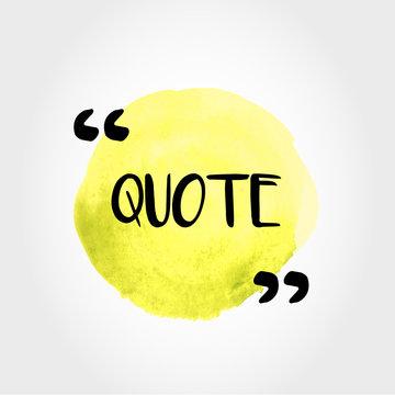 yellow quote