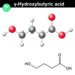 4-Hydroxybutanoic acid molecular structure