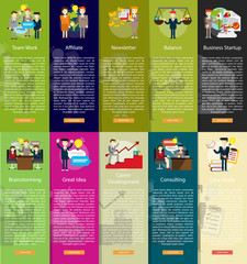 Business People Vertical Banner Concept