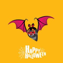 Happy halloween vector background with bat