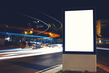 Blank billboard with copy space for your advertising text message or content