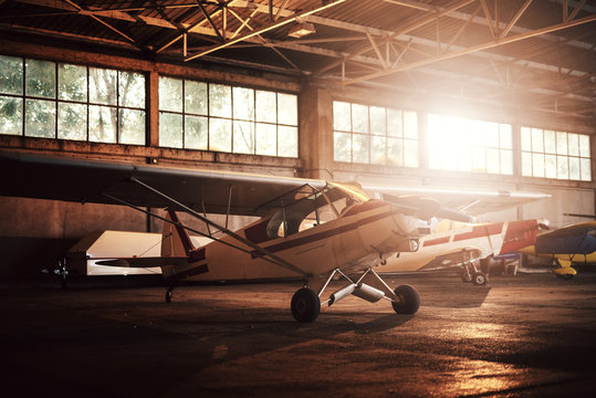 Plane in the garage