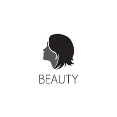 girl logo graphic design concept