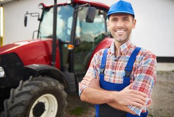 Successful farmer on his farm