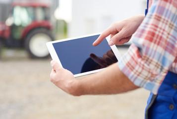 Close up on digital tablet