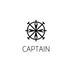ship helm logo graphic design concept