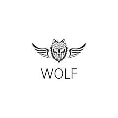 wolf logo graphic design concept