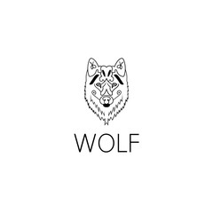 wolf logo graphic design concept