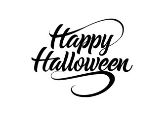 Happy Halloween Calligraphic Lettering