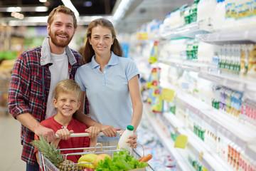 Visiting supermarket