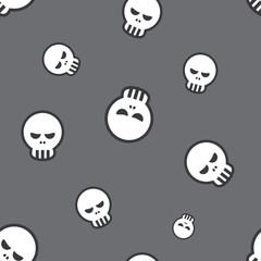 Seamless Skull Pattern Background