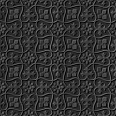 Dark 3D paper art 600 spiral curve cross vine flower