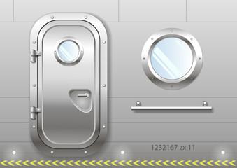 Photos illustrations et vid os de hublot for Puerta nave espacial