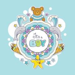 Baby shower card, It's a Boy