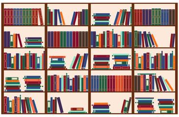 Bookshelf, vector illustration