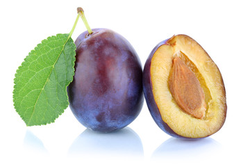 Zwetschgen Pflaumen Zwetschge Pflaume Frucht frisch Obst Freiste
