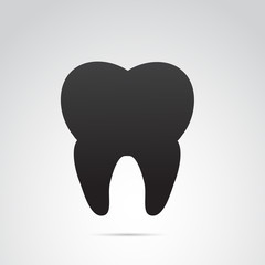 Tooth vector icon.
