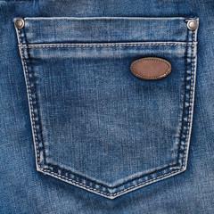 Jeans pocket closeup