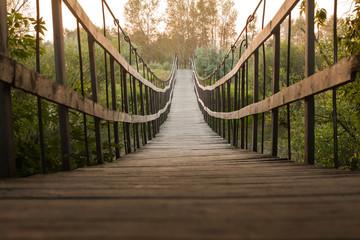 Canvas Prints Bridge Suspended wooden bridge