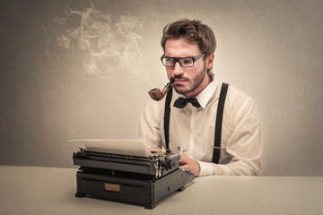 Concentrated writer using a typewriter