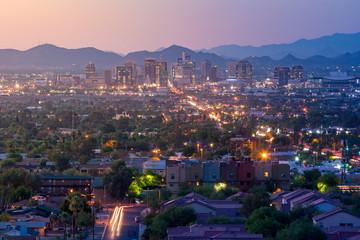 Fotomurales - Top view of downtown Phoenix Arizona
