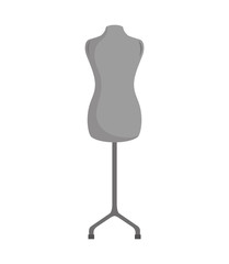 vintage female torso mannequin. Object of Fashion and sewing, Vector illustration