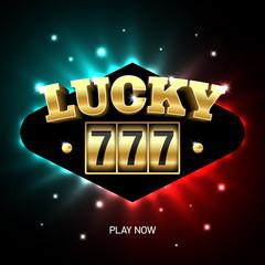 Lucky 777 jackpot, triple sevens casino banner