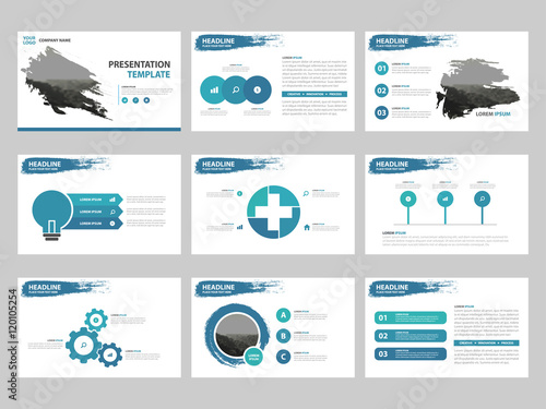 Blue abstract presentation templates infographic elements template blue abstract presentation templates infographic elements template flat design set for business proposal brochure flyer wajeb