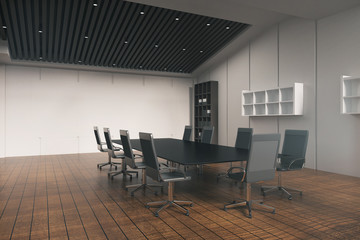 Conference table in room