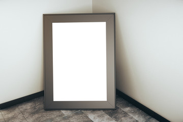Blank picture frame closeup