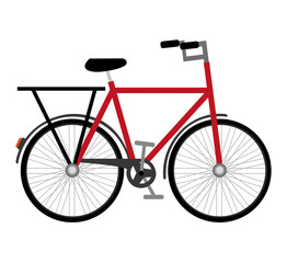 bicycle vehicle drawn isolated icon vector illustration design