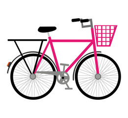 Printed roller blinds Bicycle bicycle vehicle drawn isolated icon vector illustration design