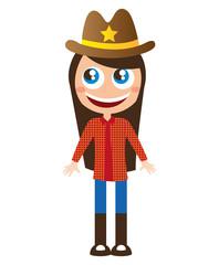 sheriff character comic law vector illustration design