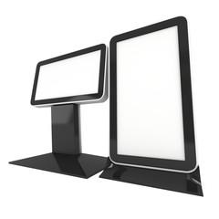 Lightbox LCD screen floor stand.