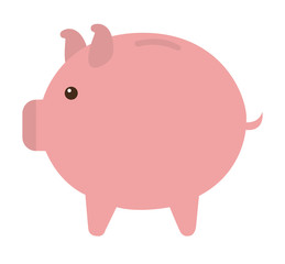 pig cute animal character farm vector illustration design