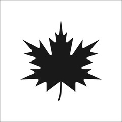 Maple Leaf sign silhouette icon on background