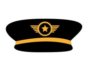 pilot plane hat uniform vector illustration design