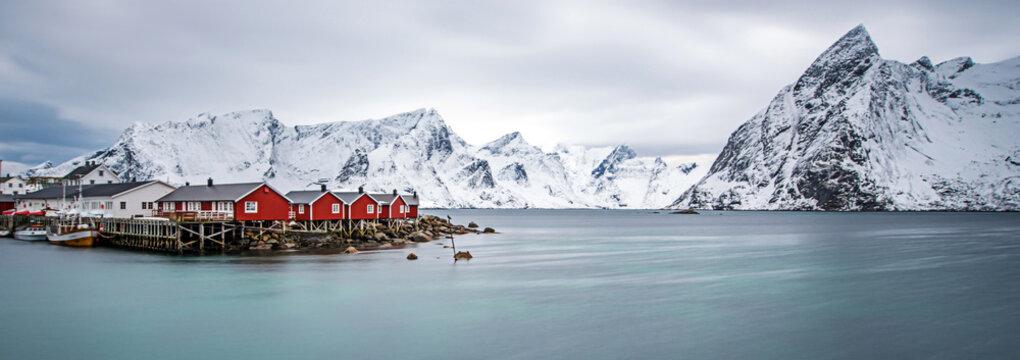Lofoten islands in winter