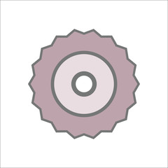 Bike bicycle sprocket sign flat icon on background