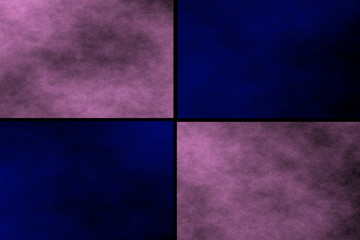 Black background with pink and dark blue rectangles