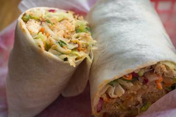 Korean Bibimbap Burrito