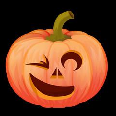 хеллоуин ночь ужасов.тыква с вырезанным лицом
