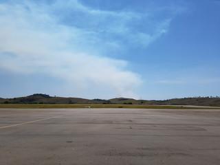 Aeródromo de um aeroporto regional do Brasil