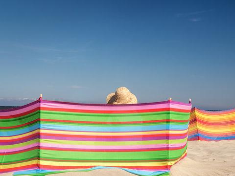 Female sunbather at the beach