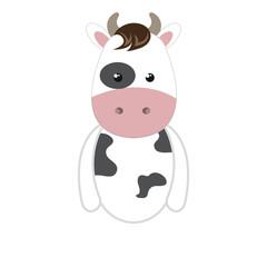 cow animal character cute cartoon. vector illustration