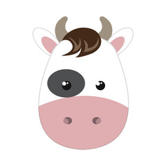 cow animal character cute cartoon. vector illustration