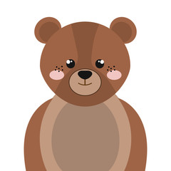 brown bear animal character cute cartoon. vector illustration