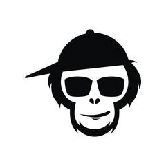 Head of an monkey vector