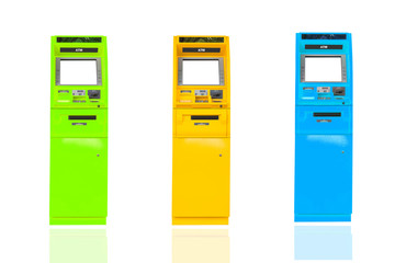 cash machine on isolated white background.