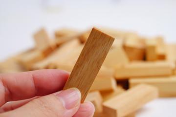 Wooden block.